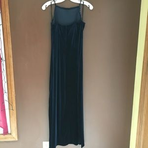 Status Collection Dresses - Navy Long Dress with Glitter Bodice